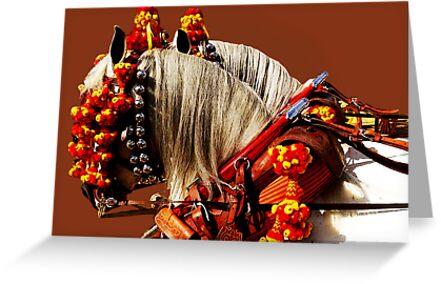 Gotta Love Feria - Parading Horses by Gerard Mignot