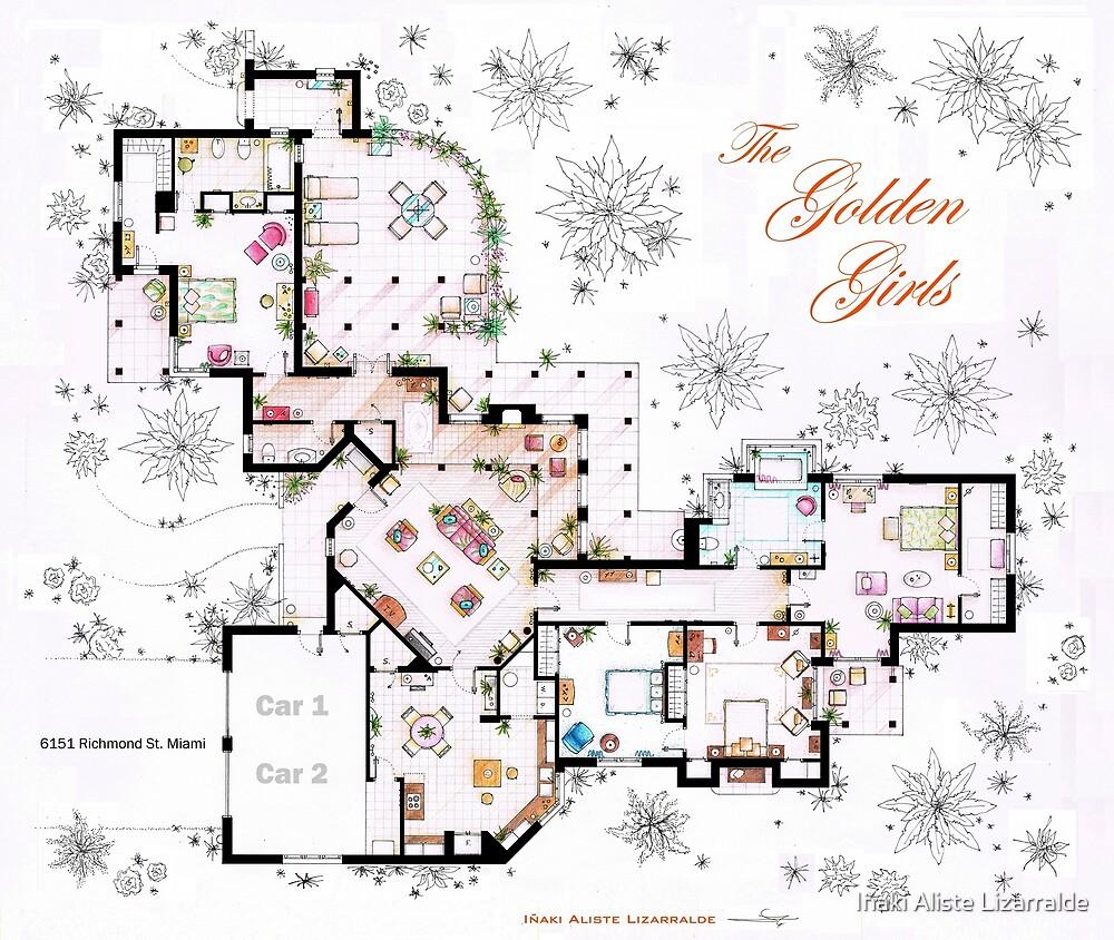 The Golden Girls House floorplan v.1 by Iñaki Aliste Lizarralde