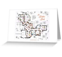 The Golden Girls House floorplan v.1 Greeting Card