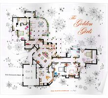The Golden Girls House floorplan v.1 Poster