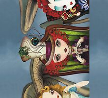 Alice's Tea Party iPhone Case by sandygrafik