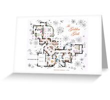 The Golden Girls House floorplan v.2 Greeting Card