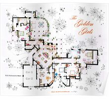 The Golden Girls House floorplan v.2 Poster
