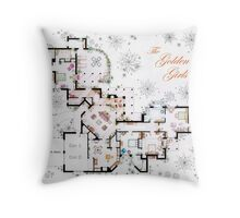The Golden Girls House floorplan v.2 Throw Pillow