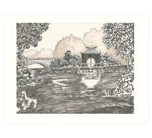 MIRROR LAKE Art Print