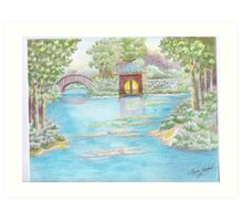 MIRROR LAKE BELLINGRATH GARDEN Art Print