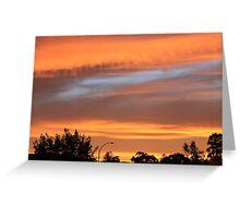 Sunset over Goulburn Greeting Card