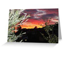 Goulburn Sunset Greeting Card
