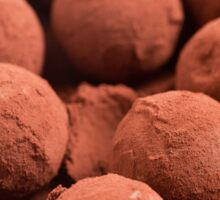 Chocolate truffles with cocoa powder  Sticker
