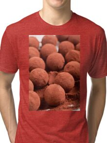 Chocolate truffles with cocoa powder  Tri-blend T-Shirt