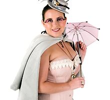 steampunk woman on white  by PhotoStock-Isra