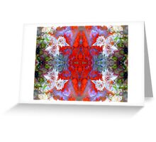 Birds Outside The Box (Red Lightning Agate) Greeting Card