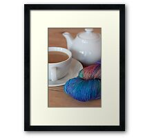 Tea and Yarn Framed Print