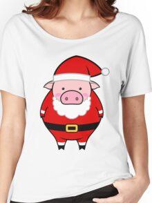 Santa pig Women's Relaxed Fit T-Shirt