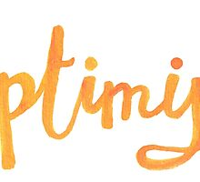 optimist | lettering by likorbut