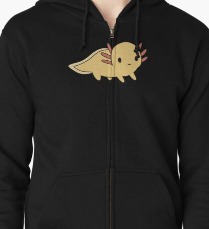 Golden Axolotl Zipped Hoodie