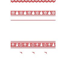 Don't Be Tachy Ugly Christmas Sweater Photographic Print