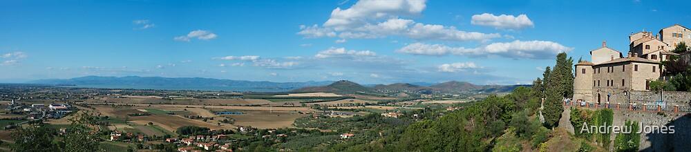 Lago Trasimeno from Panicale panorama, Umbria, Italy by Andrew Jones