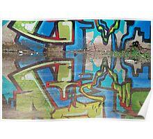 Reflected graffiti Poster