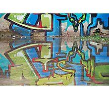 Reflected graffiti Photographic Print