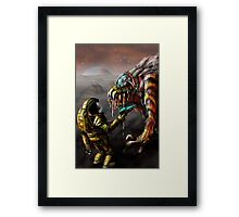 The Blunderbeast and the Spaceman Framed Print