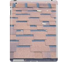View from the roof shingles closeup brown iPad Case/Skin
