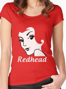 Miss Redhead (text) [iPhone / iPad / iPod case | Tshirt | Print] Women's Fitted Scoop T-Shirt
