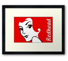 Miss Redhead (text) [iPhone / iPad / iPod case | Tshirt | Print] Framed Print