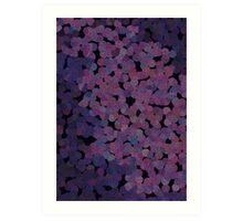 Pointillisme violet Art Print