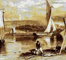 On the Beach at Exmouth, Devon 1840 by Dennis Melling