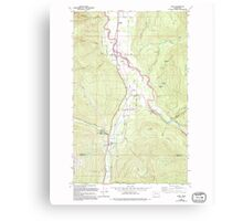 USGS Topo Map Washington State WA Acme 239727 1980 24000 Canvas Print