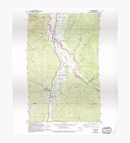 USGS Topo Map Washington State WA Acme 239727 1980 24000 Poster