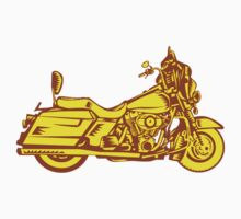 Motorcycle Motorbike Woodcut by patrimonio
