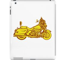 Motorcycle Motorbike Woodcut iPad Case/Skin