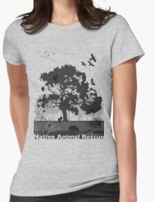 Support Native Animal Rescue Womens Fitted T-Shirt