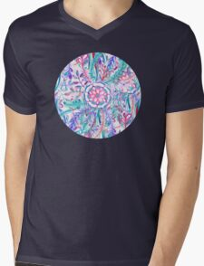 Boho Flower Burst in Pink and Teal T-Shirt