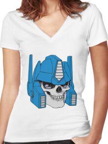 Optimus Crime Women's Fitted V-Neck T-Shirt