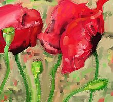 Red Poppies - 2012 by Sue Flask