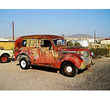 Old GM Panel Truck Photographic Print