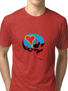 Skull_15 is part of a series on Love Never Dies... Tri-blend T-Shirt