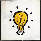 Bright Ideas Stencil Graffiti by eyeshoot