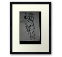 Figure with Swirls Framed Print