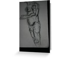 Figure with Swirls Greeting Card