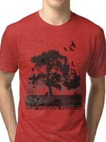 Our Wildlife Matters - Support Native Animal Rescue Tri-blend T-Shirt