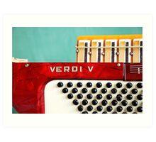 Red Verdi V Art Print