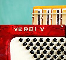 Red Verdi V by Diane  Kramer