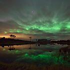 Auroras by the pond by Frank Olsen