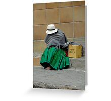 Covered In Poverty Greeting Card