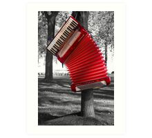 The Red Verdi V hangs Art Print