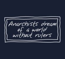 Anarchists and Rulers (White for dark backgrounds) Kids Clothes